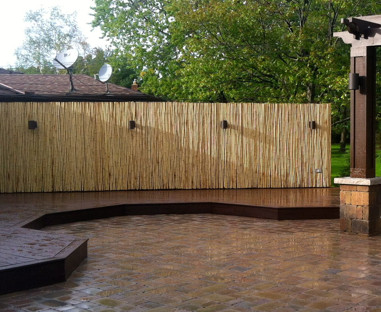 Fences for Outdoor bamboo screen panels
