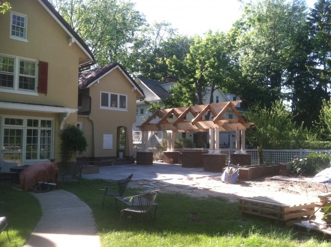 Progress on a Cleveland Heights backyard.