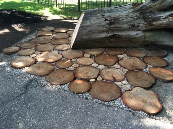Patio Pavers Wood : Wood slice pavers green source ohio