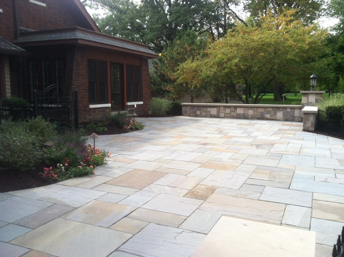 Bluestone patio terrace for Bluestone porch